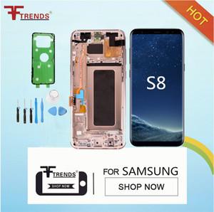 100% nero originale per Samsung Galaxy S8 LCD G950A G950P G950T G050V schermo display Assembly con telaio di ricambio riparazione