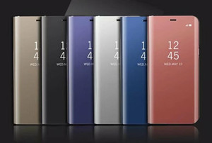 Официальный Зеркало Wallet чехол для Samsung Galaxy Note 20 Ультра A21S S20 Plus Флип кожа Покрытие Смарт Окно Вид держатель металлической крышки