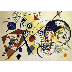 High quality Wassily Kandinsky arts Durchehender strich hand painted Oil paintings reproduction Large canvas