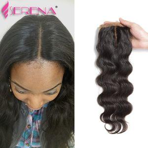 Bleached Knots Silk Base Closure Body Wave Grade 8A Brazilian Virgin Human Hair Closure Silk Top Lace Closures With Baby Hair