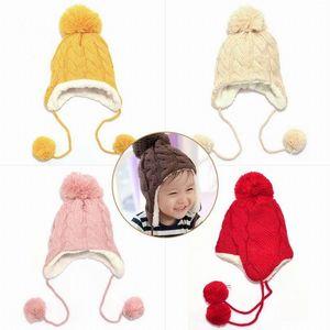 Winter HatTrendy Winter Baby Beanie Hat Cap Warm Cute Kids Boys Girls Toddler Knitted