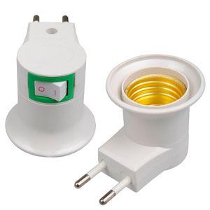 Dhl-freies Verschiffen-Qualitäts-weißes Sockel-EU-Stecker-Nachtlicht E27 mit Netz-Ein-Aus-Steuerschalter LED_817