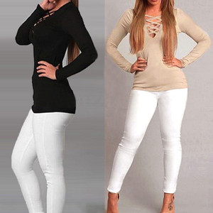 플러스 사이즈 여성 T 셔츠 봄 긴 소매 크로스 스트라이프 짧은 티셔츠 새로운 캐주얼 탑스 셔츠 Feminino Vestidos