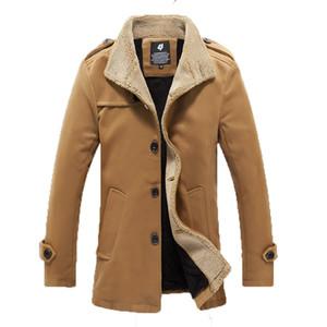 Toptan-erkek Slim Fit Mens Trençkot Overcoat için 2016 Yeni Geliş Sonbahar Kış Erkek Hendek Coats İngiliz Stil ceket ve mont
