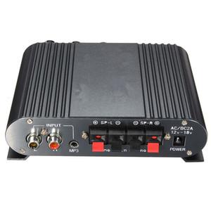 Freeshipping 내구성 품질 12V 슈퍼베이스 미니 Hi-Fi 스테레오 앰프 자동차 홈을위한 2.1CH 부스터 라디오 MP3