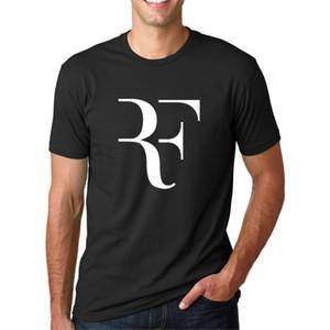 Mode d'été Lettre Imprimé T-shirt Hommes Roger Federer Fitness T-shirt Homme Streetwear Hip Hop coton Tops Tee camiseta