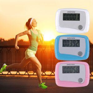Podómetro portátil Mini Digital LCD Paso de funcionamiento Podómetro contador de la distancia que recorre