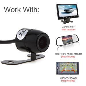 Dhl شحن مجاني 420tvl البسيطة للرؤية الليلية للرؤية الليلية سيارة كاميرا e306 18 ملليمتر اللون ccd خارج waterpoof لشاشات CAL_025