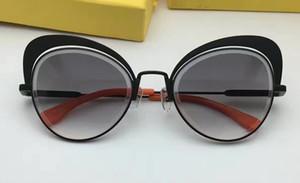 Mulheres EYESHINE FF 0247 / S Preto Cinza Sombreado Óculos De Sol Da Marca do Olho de Gato Óculos De Sol Designer marca new com caixa de óculos de sol