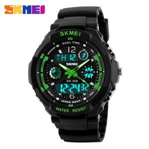 S SHOCK Marca SKMEI Luxo Homens Esporte Escalada relógio de pulso de Alta Qualidade JAPan Movimento Digital Watch Relógios Resistentes À Água