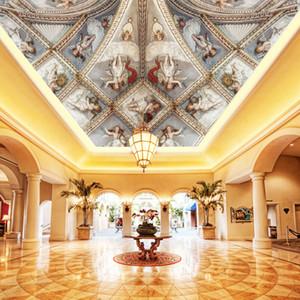 3D обои потолочные фрески обои рельефные фрески потолок Европа стиль стереоскопический 3d обои потолки украшения дома