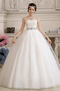 Vestido De Noiva 2017 New Style For Pregnant High Waist Butterfly Wedding Dress Elegant Crystal Handmade Embroidery Wedding Gowns