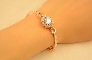 2017 classic Big zircon bracelets Hollow out diamond Female high-grade snap bracelets 86