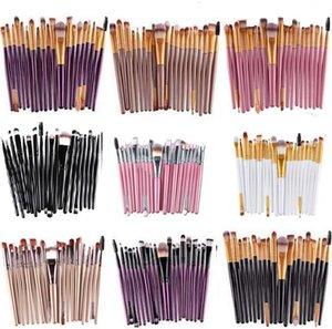 Colorido 20 Pcs Maquiagem Brushes Set Pro Blush Em Pó Fundação Sombra Delineador Lip Gold Kit Escova Cosmética Beleza Ferramentas