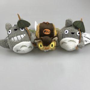 """أعلى جديد 3 أنماط 4 """"10CM جارتي Totoro CAT BUS دمية القطيفة النادرة محشوة الحلي المعلقات أفضل دمى ولعب لينة"""