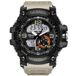 SMAEL Marque Hommes Sport Montre LED Numérique Imperméable À L'eau Casual Choc Mâle Horloges Relogios Masculino Mens Cadeau Militaire Montres de Poignet Goutte Shippin