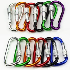 3,6 g de bloqueo mosquetones cerradura del tornillo Hebilla de gancho del candado por que va de excursión al aire libre botón de escalada mosquetón ganchos al aire libre
