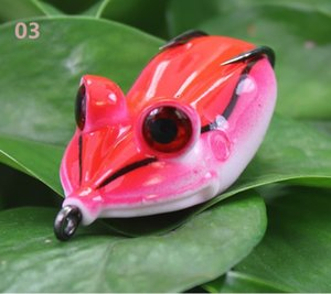 Easily attract fish attention of fish bionic rubber ray frog fishing lure artificial soft bait pesca tackle hooks 1606459