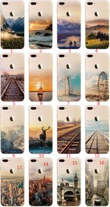 For Apple iphone 6 6S plus iphone 7 plus SE silicone case landscape Plating TPU cell phone cases Elizabeth Tower Big Ben Eiffel 012
