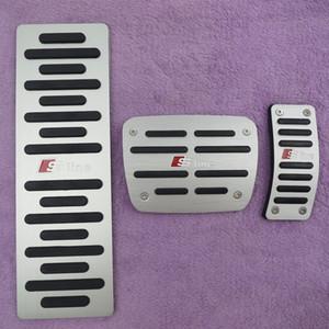 Acessórios do carro Para Audi A4 A5 A6 A6 A8 B5 B5 B8 C5 C6 NO ALC Acelerador Pedal de Freio Pé Pedal Pad Prato, styling capa adesivo
