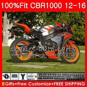 HONDA CBR1000 RR Turuncu gri CBR Enjeksiyon 1000 RR 12 16 88NO77 CBR 1000RR 12 13 14 15 16 CBR1000RR 2012 2013 2014 2015 2016 Kaportalar