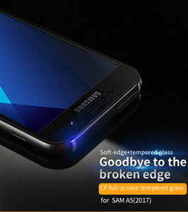 IPhone X 3D Yumuşak Kenar Temperli Cam 3D Tam Kapak Ekran Koruyucuları Samsung Galaxy Için J3 Pro J5 2017 AB Sürümü J7 2017 A8 2018 Artı