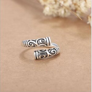 Wholesale New Fashion Men's Jewelry Zinc Alloy Punk Style Lovers Silver Retro Ring Animal Opened Adjustable Finger Ring With Free Shipping