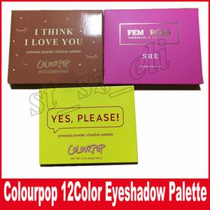 Colourpop Cosmetics X Karrueche Karrueche Fem Rosa Elle pense que je t'aime Oui, s'il te plaît! Ombre à paupières poudre pressée 12 couleurs fard à paupières