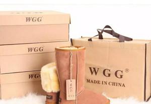 Горячие продать 2018 высокое качество WGG Австралии женские классические высокие сапоги Женские сапоги загрузки снег зимние кожаные сапоги США размер 5---13