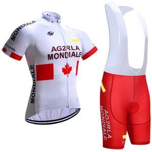 2017 blanc AG2R vélo jersey gel cuissard à bretelles Ropa Ciclismo respirant pro maillot cyclisme été vélo Maillot Culotte