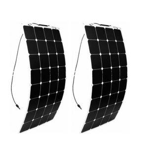 Olarparts 2 PCS * 100 W painel solar flexível barco solar célula RV módulo solar para carro / RV / barco 12 v carregador de bateria