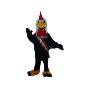 Black cock Mascot Costumes Cartoon Character Adult Sz 100% Real Picture 006
