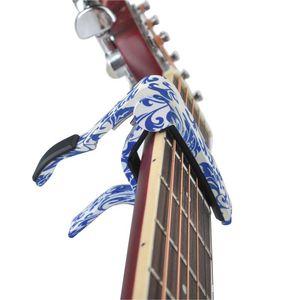 New Arrivals Handed Acoustic Guitar Capo Perfect For Guitar,Ukulele,Banjo,Mandolin -Blue And White Porcelain