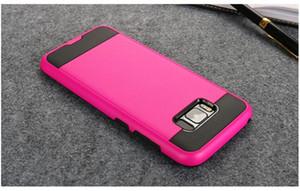 Armor Dual Layer Hybrid Case Pour Samsung Galaxy S7 Bord S8 S8 plus TPU Silicone En Plastique Téléphone Cas Couverture Couverture