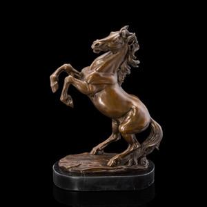 Искусство ремесла медь лучшие продажи от двери до двери высокое качество латунь скульптуры скачет лошадь статуя бронзовые лошади фигурка Главная де