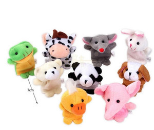 10 pcs =1lot Cartoon Biological Animal Finger Puppet Plush Toys Child Baby Favor Dolls For Children