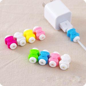 Simple Cable lindo Protector Cable Línea de datos Protector Protector Casec Cable USB enrollador para iPhone 7 6 USB Cable de carga de color