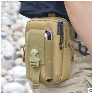 Cüzdan Kılıfı Çanta Telefon Kılıfı Açık Taktik Kılıf Askeri Molle Kalça Bel Kemeri Çantası Fermuar ile iPhone / Samsung