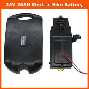Батарея 24V 24V 25AH электрический велосипед литий ионный ebike лягушки аккумуляторный блок с 30A BMS 29.4 V 3A зарядное устройство