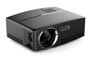 """Projecteur GP80 Projecteur à LED 180 ° couleur 180 """"1800 Lumens 800 * 480 pixels Rapport de contraste 2200: 1 avec HD-IN VGA AV USB PK UC46"""