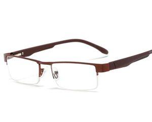 Metal Yarım Çerçeve Okuma Gözlükleri Ultra Hafif Presbiyopi Gözlükler 1.0 - 4.0 PC Tapınaklar Yorgunluk Gafas +1.0 +1.5 +2.0 +2.5 +3.0 +3.5 +4.0