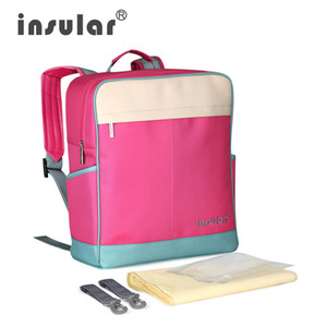 Bebek bezi sırt çantası moda tuval su geçirmez tarzı bebek insular toptan yeni anne çantası sırt çantası nemmq