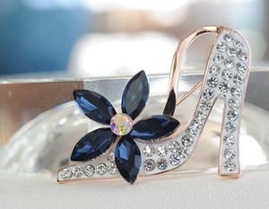 Beau style en gros chaussures à talons hauts broche strass broche bijoux papillon broches pour gilrs