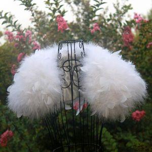 Страусиное Перо Белый Свадебный Мех Пальто Манто Fourrure Femme Болеро Mariage Перо Болеро Свадебная Куртка Зимнее Пальто Женщин