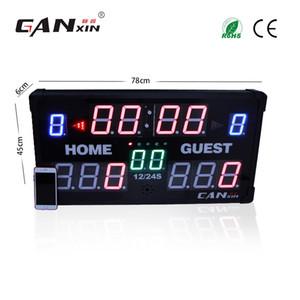 [GANXIN] 14 dijital led Basketbol / Futbol / Badminton Skor Tahtası - Tam Boyutlu Duvar Zamanlayıcısı - Uzaktan kumandalı Programlanabilir Spor Zamanlayıcı