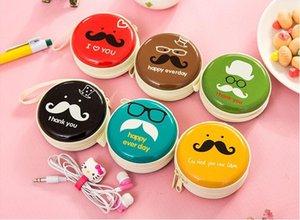 ¡¡¡Mejor vendido!!! Nuevas adquisiciones 12 unids Creative Cartoon Circle Zero Wallet Iron Beard Mini Auriculares Portátiles Paquete Elegir Color