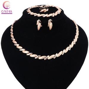Moda Dubai collar pendiente joyería conjunto oro Color nigeriano boda Africana perlas joyería conjuntos Parure Bijoux Femme