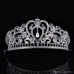 Luxo Elegante Cristal Nupcial Coroa Headpieces Mulher Tiaras Cabelo Jóias Enfeites Hairwear Acessórios Do Cabelo Da Noiva Do Casamento CPA791