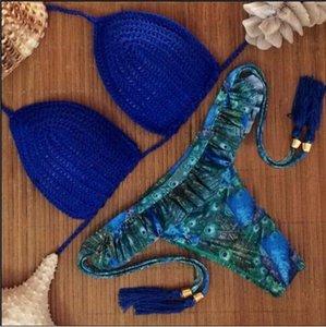Brazil Bikini Tassel Tube Top Halter Bikini Наборы Сексуальная Летняя Пляжная одежда Женщины Купальники Пляж Бикини Купальники MCKSL