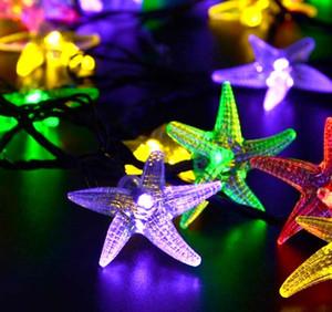 Denizyıldızı 30 LED Açık Renkli Güneş Lambaları LED Dize Işıklar Peri Tatil Noel Partisi Garlands Güneş Bahçe Su Geçirmez Işıkları
